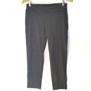 Zach and Rachel Patterned Career Cropped Jeggings